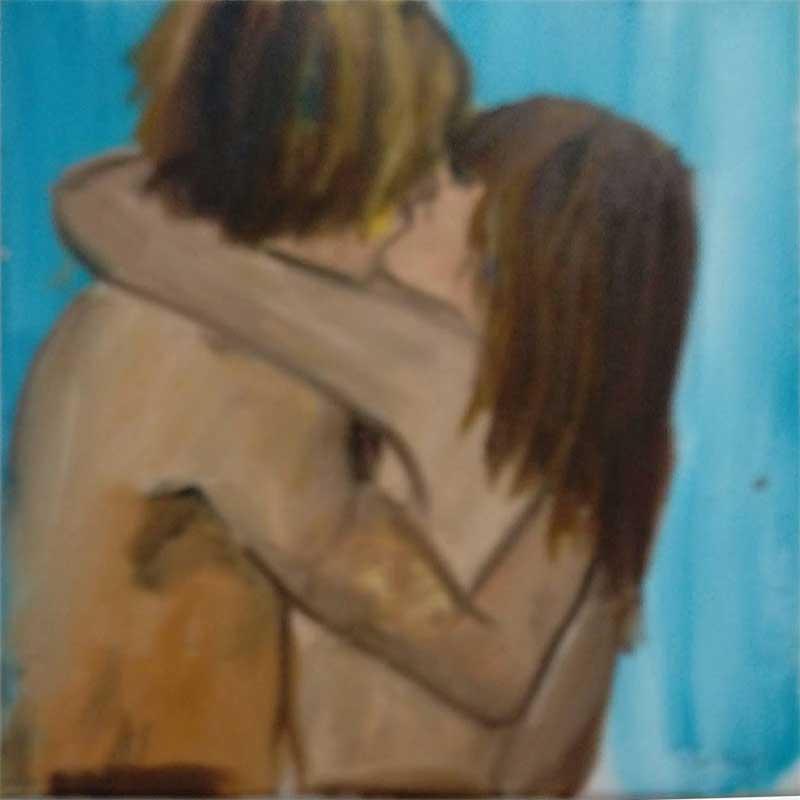 Amor - Técnica empleada: Acrílico sobre lienzo